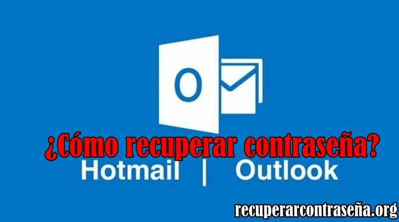 recuperar contrasena hotmail