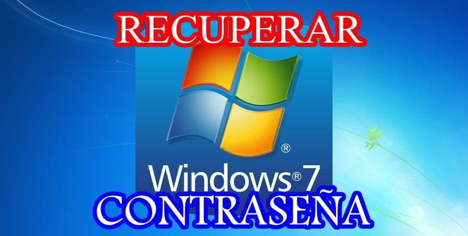 recuperar contrasena windows 7