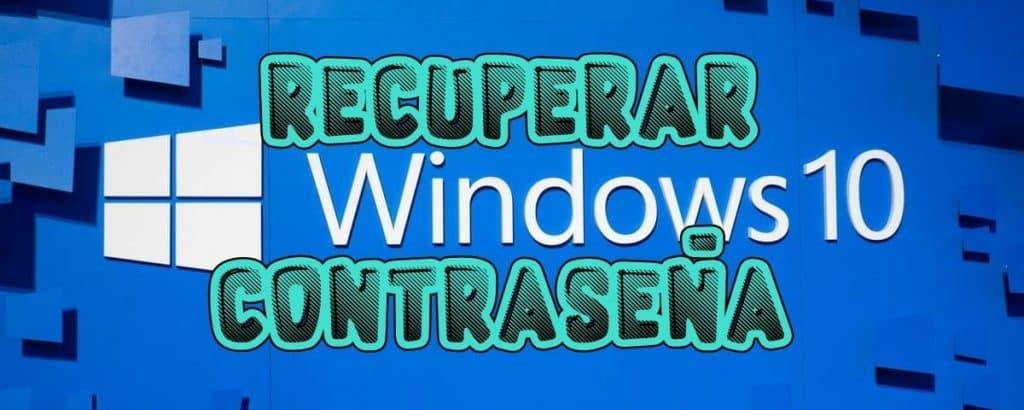 recuperar contrasena windows